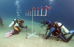 15dec06a (KnyazevDA) Tags: disability diver diving disabled handicapped underwater redsea hanukkah hanukah menorah lights candles israel eilat etgarim cmas amputee paraplegia paraplegic