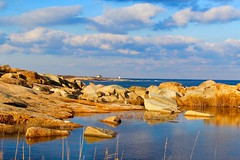The lighthouse (ole_G) Tags: rockport flatpoint capeann serene gold blue goldandblue lighthouse