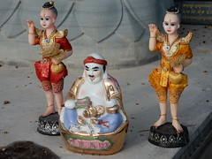 Curious Figurines (mikecogh) Tags: phnompenh figurines curious statues shaven colourful colorful