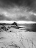 Old fisherman cabin (joaquinain) Tags: omd em12 olympus high resolution bn bw norway tromso sommaroy fisherman pescador nubes clouds laowa
