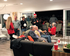 036 Conversation Late Into The Evening (saschmitz_earthlink_net) Tags: 2017 california southerncaliforniagrotto christmasparty losangelescounty baldwinhills windsorhills party climbing practice