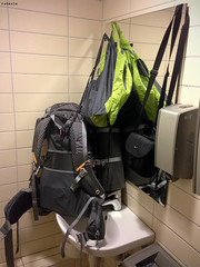 20170623_i1 The designers of this train station thought they were so smart when they ''forgot'' to install bathroom hooks and instead accidentally installed 10-NOK lockers outside the bathroom | Drammen, Norway (ratexla) Tags: ratexlasinterrailtrip2017 norway 23jun2017 2017 interrail interrailing eurail eurailing tågluff tågluffa tågluffning travel travelling traveling journey epic europe earth tellus photophotospicturepicturesimageimagesfotofotonbildbilder wanderlust vacation holiday semester trip backpacking tågresatågresor resaresor europaeuropean stad town city sommar summer ontheroad norwegian norge scandinavia scandinavian norden nordiccountries drammen trainstation toilet bathroom loo restroom iphone5 iphone favorite