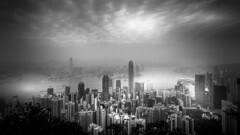 The Peak - Hong Kong (Gerald Ow) Tags: thepeak geraldow sony a7r2 a7rii a7rmk2 hongkong fe 1635mm f4 za oss zeiss bw blackandwhite black white sky cloud lugardroad 香港 victoriapeak 太平山 hongkongisland central panoramic wide angle 維多利亞山 太平山頂