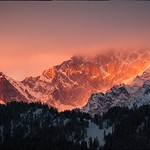 Mt Dolent in the fog, view from Verbier thumbnail