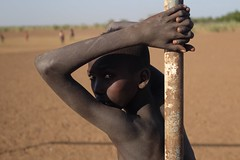 Back to South Omo, Ethiopia (Michal Przedlacki) Tags: boy child children africa ethiopia south omo portrait life football school dasenech tribe nomadic poverty development happiness games dream