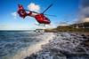air ambulance along the north coast (teedee.) Tags: air ambulance along north coast nireland rescue rock water sea psni waves red composite ireland image