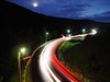 Night road at the mountains with car trails (mironenko1990) Tags: road night car light city speed traffic lights highway long background street motion exposure abstract blur dark fast movement travel landscape transportation red urban driving blue trail drive transport way evening vehicle sky line twilight mountain