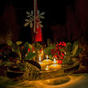 seasonal ambience (Wendy:) Tags: christmas berries candlelight reflections water candles mirror floating glass odc