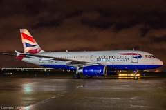 British Airways G-EUPR Night HAJ (U. Heinze) Tags: aircraft airlines airways eddv haj hannoverlangenhagenairporthaj planespotting plane flugzeug nikon night