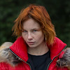 Beware, furious redhead! (piotr_szymanek) Tags: natalia portrait outdoor park freckles redhead jacket flyhigh shallowdof woman girl lady fur red zip fashion face young 5k 10k 50f 20k