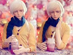 ☆ Hot Drink ☆ (Shimiro Kestrel) Tags: bjd doll christmas photography bjdphotography bjdportrait bjdcustom dollphotography bjdhybrid portrait cute kanadoll kanadolladrian spiritdoll spiritdollproud abjd