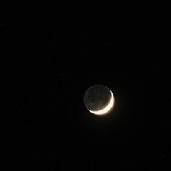 PC213305 (Paul Henegan) Tags: 11crop montaukny moon yule earthshine stars waxingcrescent winter