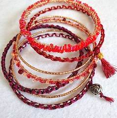 Solstice Bangle stack (vashtirama) Tags: designingvashti crochetjewelry bangle crochetbracelet coveredring beaded beads