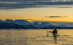 Seakayaking - first morning of 2018. (Snemann) Tags: seakayaking january k5 smcpda1650mmf28edalifsdm tromsø troms norway norge winter wintersea mørketid arctic darkseason colours kayak atsea people