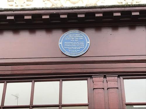 George Clarke Simpson plaque