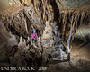 Holly Nichols by formations in the Pyramid Passage (underarockphoto) Tags: middle earth cave greenbrier county west virginia raiders valley caves caving speleothems strike dip strata limestone