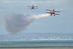 3499 wingwalkers (photozone72) Tags: eastbourne airshows aircraft airshow aviation breitlingwingwalkers breitling wingwalkers boeing stearman biplane canon canon7dmk2 canon100400f4556lii 7dmk2