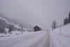 La Comballaz. (Azariel01) Tags: 2017 suisse switzerland schweiz vaud aigle lesmosses lacomballaz road route snow neige snowing alps alpes mountain montagne tires tracks traces pneus winter hiver