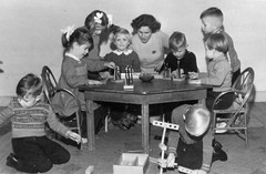Real boys don't play with pencils (theirhistory) Tags: boys children kids school class table toys teacher jumper trousers wellies shoes girls form pupils students education