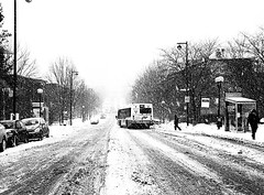 Montreal Winter 1 (MassiveKontent) Tags: bus snow noiretblanc blackwhite montreal bw city monochrome urban blackandwhite streetphoto montréal quebec streetphotography bwphotography streetshot winter