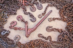 Rusty Chains and Hooks Flat Lay 5590 B (jim.choate59) Tags: flatlay rust chains cement texture concrete jchoate d610 metal tools nelsonnevada hooks