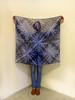 "Large shibori scarf ""Winter stars"" (arireven) Tags: scarf shibori shawl blue whisperofsilk bluewhite handpainted handdyed handmade cotton"