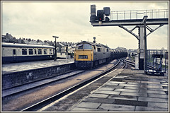 Ernie goes to London! (david.hayes77) Tags: 1973 kodak film agfabillyzero plymouth devon western class52 dieselhydraulic d1065 1065 westernconsort 6a19 milktrain freight erniethemilkman