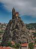 Le Puy - Rocher St. Michel d'Aiguilhe (pe_ha45) Tags: lepuyenvelay rocherstmicheldaiguilhe chapel godescalc trianus pilgrims jakobsweg auvergne archangel michael