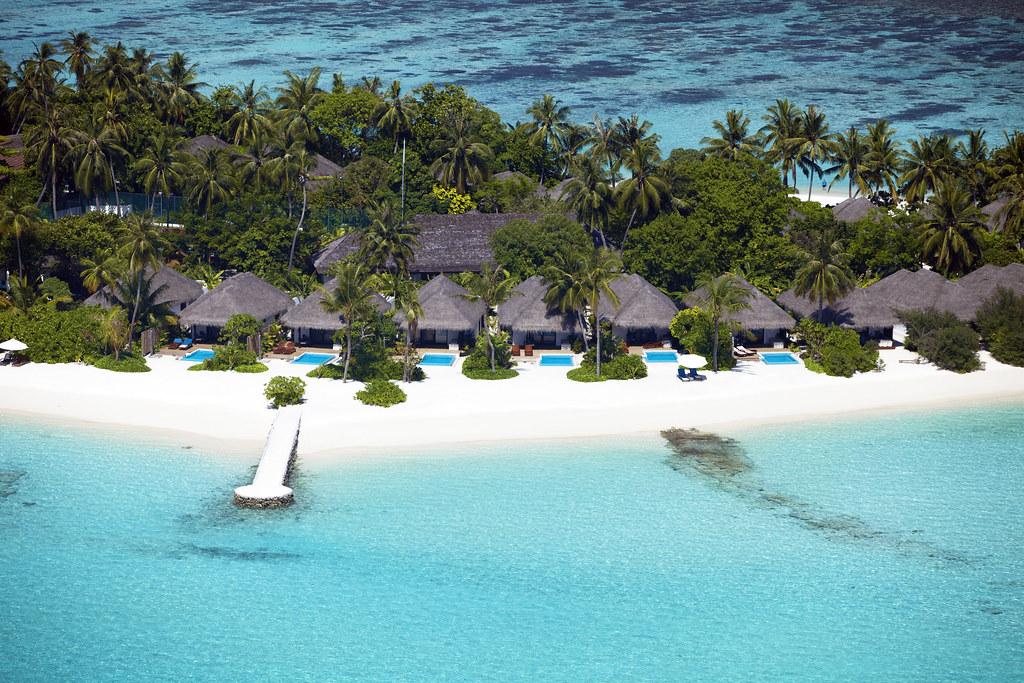 aerial beach villas pool