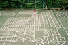Hopscotch (藍川芥 aikawake) Tags: play girl film rollei35se portra160 kodak fun enjoy life kid child wonderful love map hopscotch