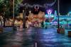Christmas in Carsland (cstout21) Tags: disneyland disneylandresort disney disneyscaliforniaadventure carsland raditorsprings canon60d canon hdr highdynamicrange lights christmas christmasdecorations christmastree garland