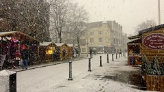 Snow in the Streets (TERRY KEARNEY) Tags: snow winter weather streets roads roadway market christmas architecture buildings canoneos1dmarkiv cheshire chester daylight day explore europe england kearney skyline landscape cityscape nature oneterry outdoor people sky terrykearney trees urban 2017 road tree building