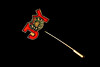 Joystick (aka - stickpin/stick pin)) (deanrr) Tags: macromondays themebased stickpin pin stick sharp december111027 jewelry lowkey joy wreath shadows morgancountyalabama blackbackground macro closeup hmm diagonal nikond7100 metal christmas christmasstickpin