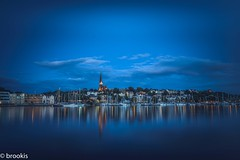 Harbour Blues (brookis-photography) Tags: bluehour flensburg harbour water buildings