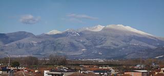 Falackro Mount, high resolution panorama, Kalabaki view.