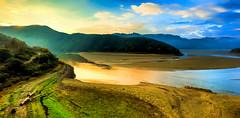 River of stilness (Gio_ guarda_le_stelle) Tags: river quiet sunrise italy gold fiume ansa trees autumn fog sunbeams stilness azul blue green verde pace riserva tarsia sting song quiete bellezza nature