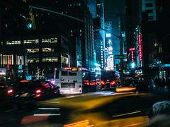 NYC   Corner of 7th and 53rd (Sarah Maybee) Tags: newyorkcity nightlife streetcorner thebigapple