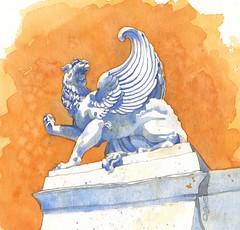 2017-12-Griffon-Longchamp (k.ro001) Tags: sketch croquis aixcroquis kro001 carolinemanceau dailypainting carnetdevoyage aquarelle watercolour carnetdecroquis croquisaquarellé