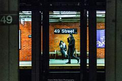 49th Street Station (jomak14) Tags: 2017 christmasinnyc leicadgsummilux25f14 microfourthirds olympusep2 mta49thstreetstation newyork manhattan nyc theatredistrict peopleonsubwayplatform