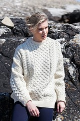 Blonde sexy girl in aran casual knitwear (Mytwist) Tags: a823 crew neck sweater white traditional irish aran islands knitwear sweatergirl timeless woman winter retro raglan cabled craft classic chunky knitted bulky jumper pullover laine style fashion design mytwist itch love passion nordic blonde
