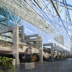 Law Courts (Chimay Bleue) Tags: late modern space frame truss trusses greenhouse glass roof concrete brutalism brutalist design architecture modernism modernist arthur erickson vancouver bc canada atrium interior
