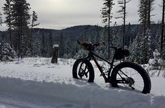 Xmas Eve Sleigh Ride (Doug Goodenough) Tags: bicycle bike cycle pedals spokes fat farbike trek farley 5 waha craig mountains snow winter christmas eve cold dec december 2017 17 drg53117 drg53117p drg531