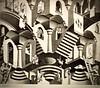 Convex and Concave (1955) - Maurits Cornelis Escher (1898 - 1972) (pedrosimoes7) Tags: mauritscornelisescher museudeartepopular lisbon portugal theescherfoundationcollection artgalleryandmuseums ✩ecoledesbeauxarts✩ expression