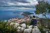 Contemplating Ferrat (.remfer06) Tags: cap ferrat mer sea clouds nuages arbre tree morning me moi stones pierres cote dazur french riviera france mediterranee