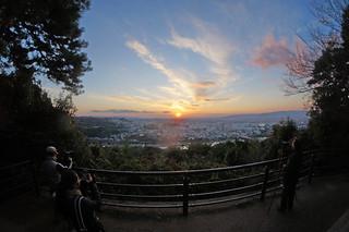 taking photo of sunset at Mt.Daikichiyama