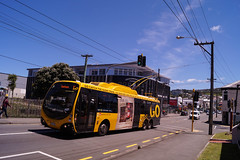 Newtown - Constable Street (andrewsurgenor) Tags: transit transport publictransport nzbus gowellington electric trackless trolleybus trolleybuses wellington nz streetscenes bus buses omnibus yellow obus busse citytransport city urban newzealand