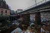 Penstock, river, railway (AstridWestvang) Tags: building industry larvik penstock railway river