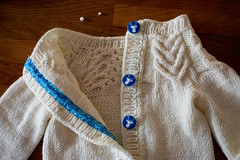 Antler Cardigan (capovak) Tags: merino wool drops cardigan buttons knitting