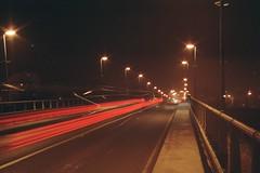 Long Exposure (todorPA) Tags: analog long exposure zenit city light trails road night car film plus kodak colorplus helios