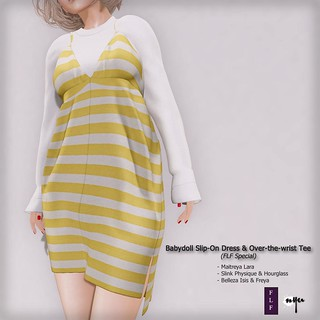Babydoll Slip-On Dress & Over-the-wrist Tee (FLF Special)